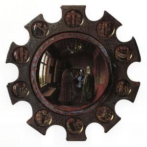 Jan van Eyck - Particolare dello specchio -1434