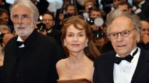 Haneke con Isabelle Huppert e Jean-Louis Trintignant